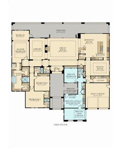 Les 948 meilleures images du tableau plans sur pinterest - Maison plain pied deco orientale palm springs ...