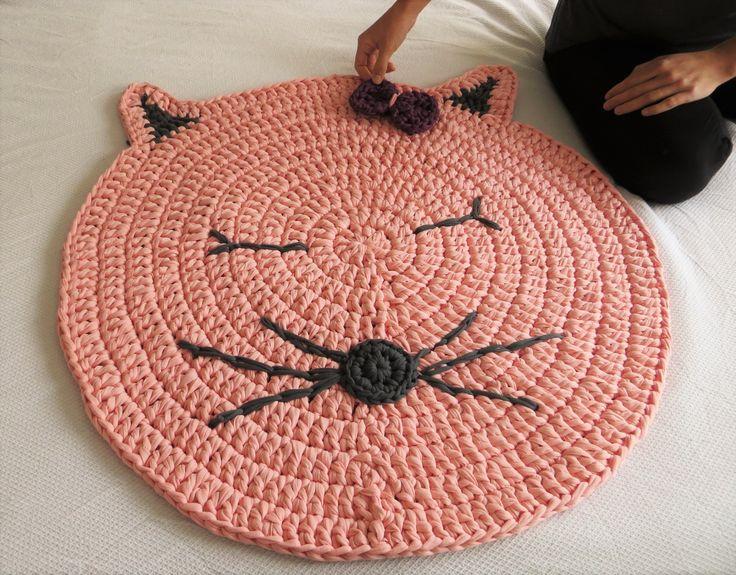 Mejores 129 im genes de alfombras cestas todo crochet - Alfombras redondas infantiles ...