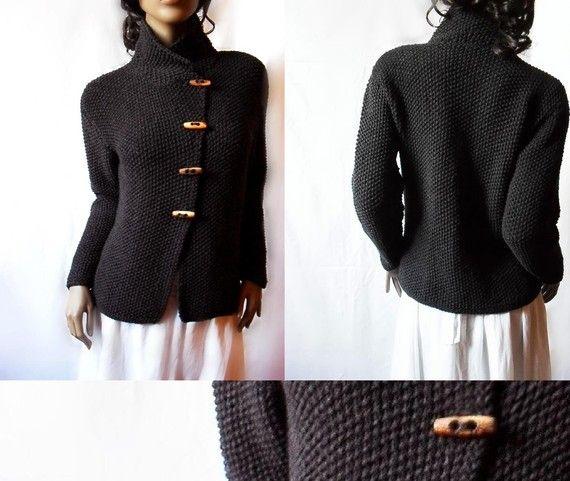 Capa de suéter de punto a chaqueta tejida Merino lana por Pilland