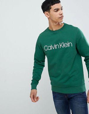 a1d1ef8d23784 Calvin Klein Logo Sweatshirt Hunter