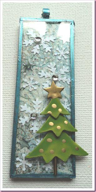 Microscope Slide Christmas Decoration Pendant