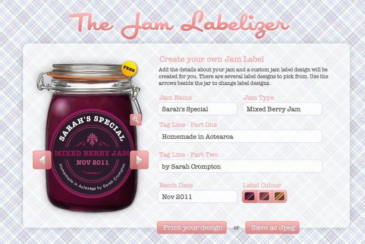 generatore di etichette per marmellate: http://www.jamlabelizer.com/ e per birre http://www.beerlabelizer.com/