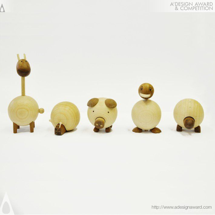 A' Design Award and Competition - Movable Wooden Animals Toy Press Kit