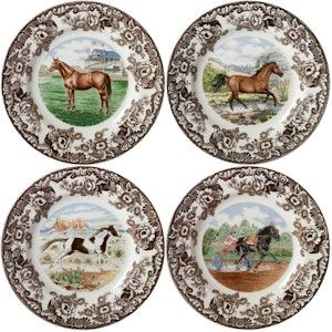 Spode Woodland Horses Dishes China Vintage Heirloom