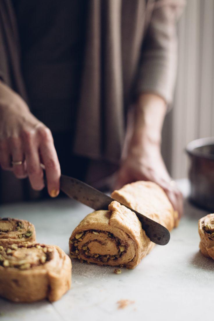Sweet Potato Spiced Cinnamon Rolls - Christiann Koepke