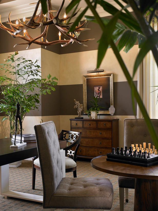 Beasley & Henley Interior Design...beautiful room....love the walls.