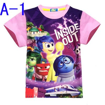 Find More T-Shirts Information about 2016 Inside Out t shirt Cartoon Printing Jacket Short Sleeve Character Children Clothes Girl Baby Boy Clothes Christmas Clothes,High Quality clothes for small bust,China clothes seller Suppliers, Cheap clothes turkey from Kids1688 on Aliexpress.com