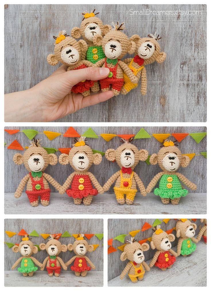Ondeugende aap gehaakte aap speelgoed voor kinderen gevulde dier apen / gevuld dierlijke / grapje geschenk voor volwassen aap zacht speelgoed