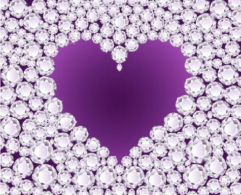 Diamonds & a purple heart  ❤ for those with fibromyalgia like the medal of Honor!