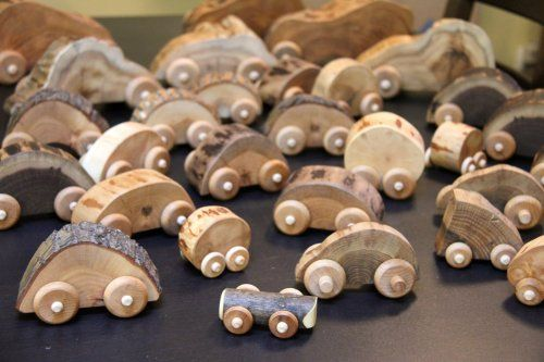 Natural toy cars by Jessie Hirt of The Woodlot