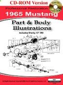 1965 Mustang Part and Body Illustrations manual is a comprehensive collection of detailed part and body illustrations that are extremely useful for any restoration project.