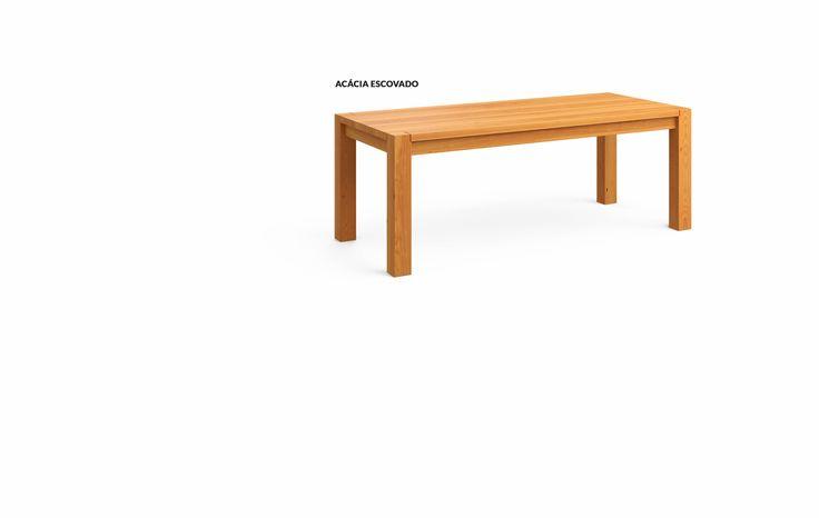Mesa de Jantar em Madeira de reflorestamento - Linear - MUMA - Móveis e objetos de design assinado - Entrega em todo o Brasil