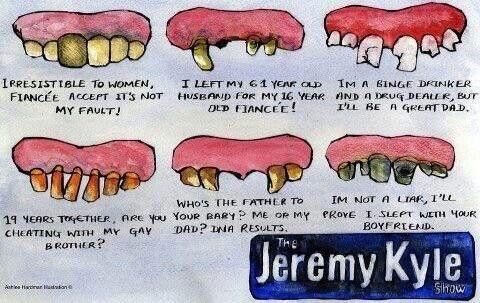 The Jeremy Kyle teeth chart