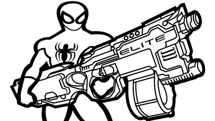 Pin di Nerf Coloring Pages