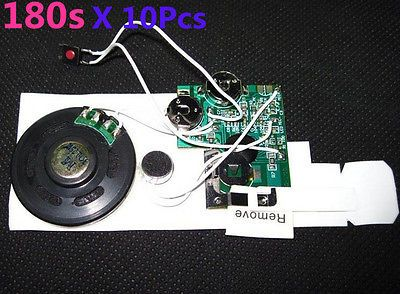 10Pcs/Lot 180s Wedding Card Recordable Module Voice Sound Module Musical Chips