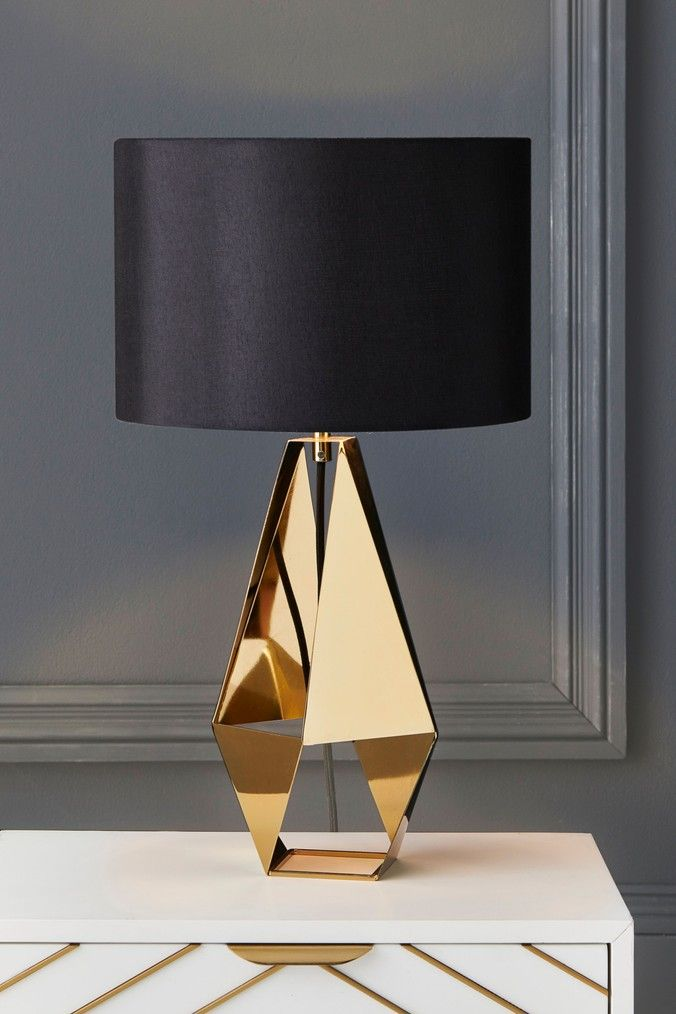 Next Harper Table Lamp Gold Table Lamps Living Room