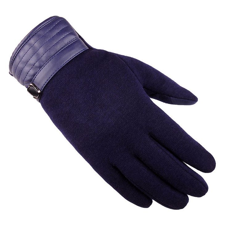 Men Winter Windproof Full-finger Gloves Casual Warm Touch Screen Mittens at Banggood