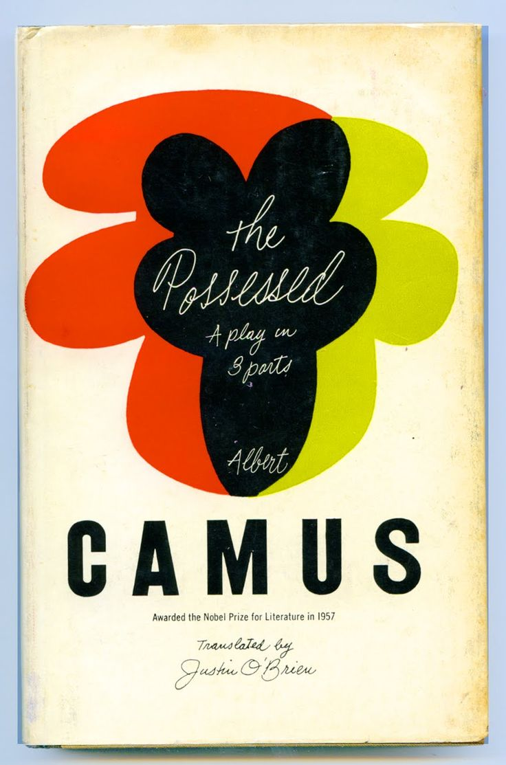 Albert Camus, The Possessed, New York: Alfred A. Knopf, 1960. Jacket by Paul Rand.