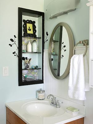 cute idea with medicine cabinet re do bathrooms pinterest