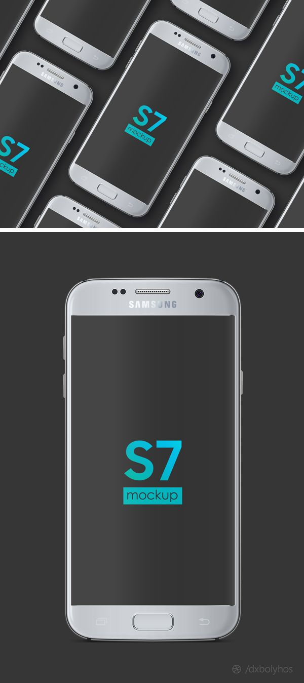 We're happy to share with you today a mock-up of the brand new Samsung Galaxy S7 phone, to use freely in your presentations. This freebie includes a P...
