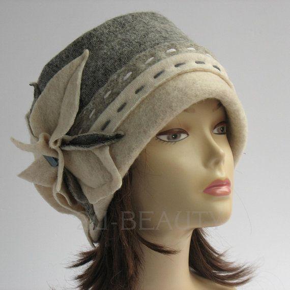 00f0b2d7ae5 Ladies Large Beanie Womens Beanie Cloche Hat Etsy Fashion Fall Accessories  eco Unbleached Wool winter hat beanie handmade gift winter hat. US 87.00