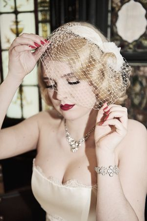 1950's Screen Siren ~ Beautiful Bridal Accessories by HT Headwear...