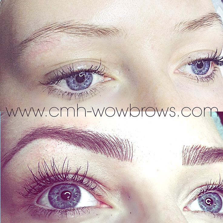 Microblading Hair stroke Feather contact Eyebrow tattooing