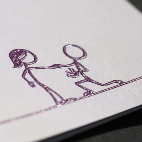 Reliefdruck Hochzeitskarte