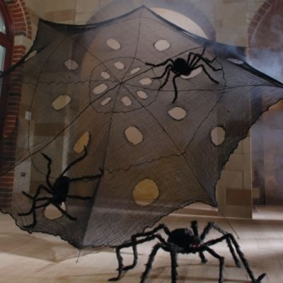 black halloween web with spooky spiders really cool looking and it is on sale