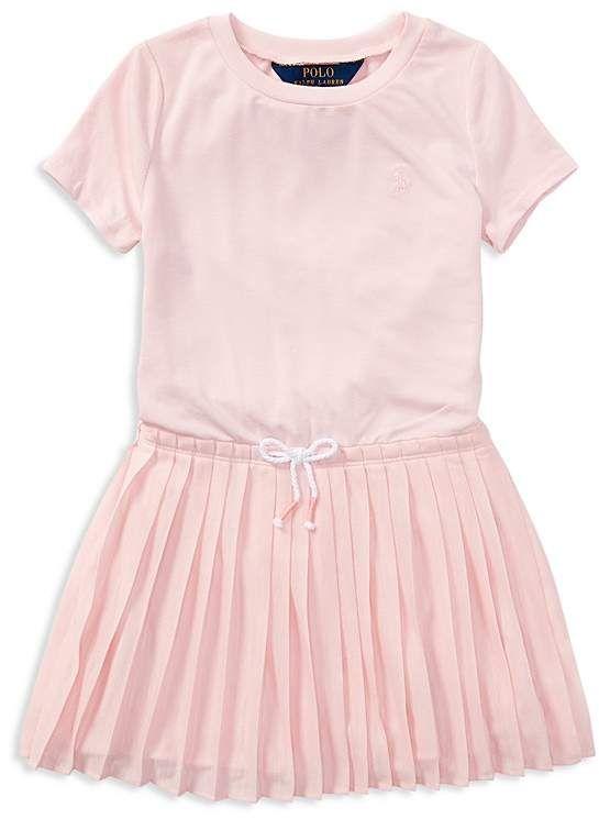 a5d220a7 Polo Ralph Lauren Girls' Pleated T-Shirt Dress - Little Kid ...