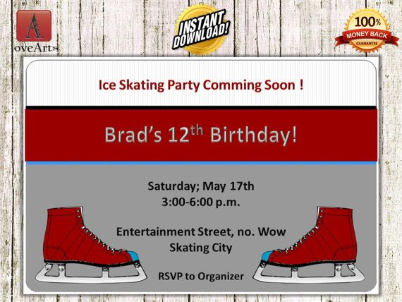 Hey, I found this really awesome Etsy listing at https://www.etsy.com/listing/248928052/instant-download-ice-skating-invitation