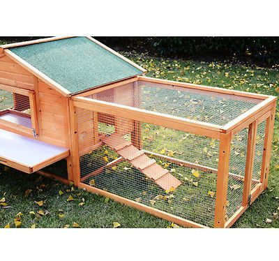 pawhut 122 outdoor wooden animal house guinea pig rabbit