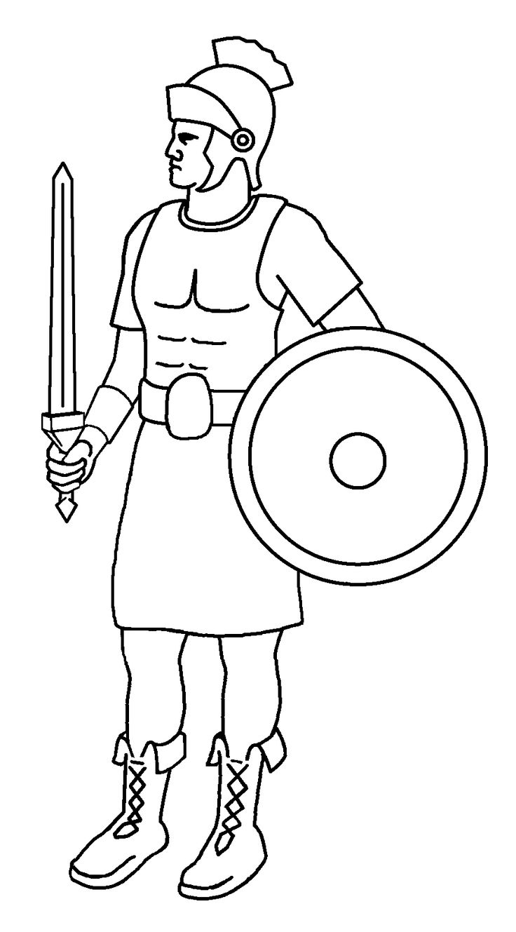 roman soldier outline drawing - Google Search | ESCUELA ...