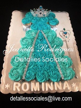 Pastel de Cupcakes PRINCESA