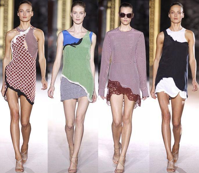 Асимметрия (Stella MacCartney)        Броские асимметричные наряды с необычными принтами привлекают внимание и выделяют из толпы!