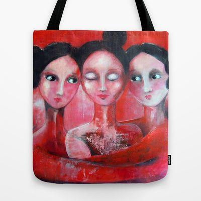 Soulsisters Tote Bag by Malin Östlund - $22.00