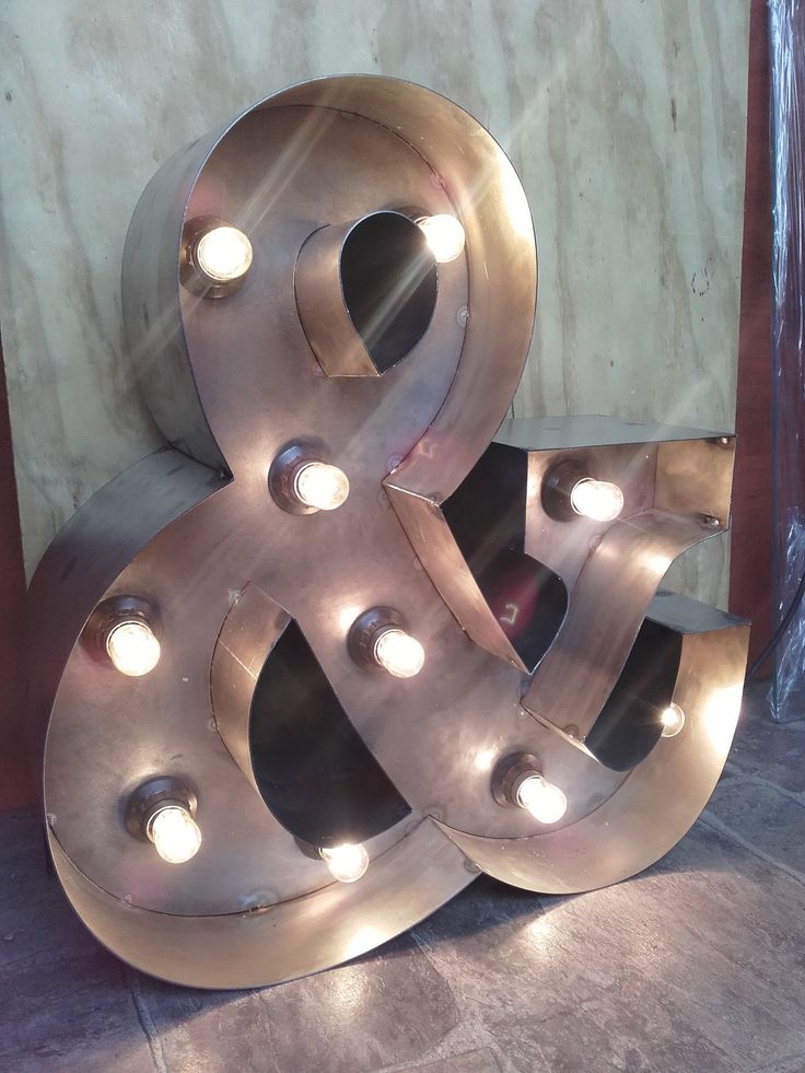 industrial, retro, letter & light, marquee lights, by weldhaus on Etsy