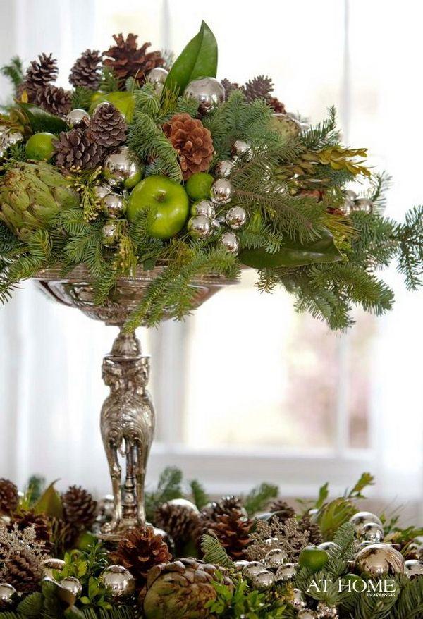 Elegant Christmas Centerpiece Center Pieces Pinterest