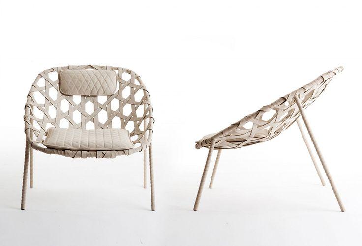 benjamin hubert's boat-and-bike-handle-inspired lounge chair, Möbel