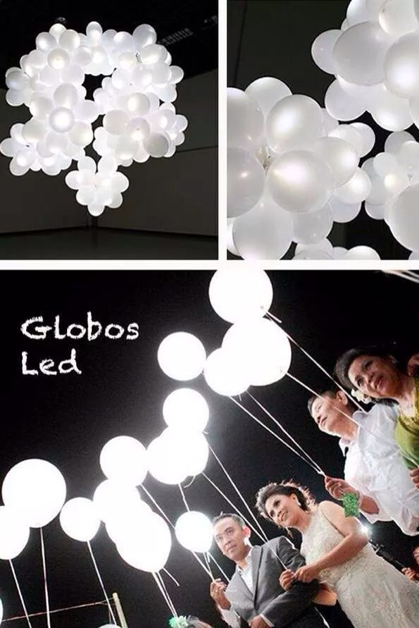 En lugar de globos de cantoya! Lo haré en mi boda!