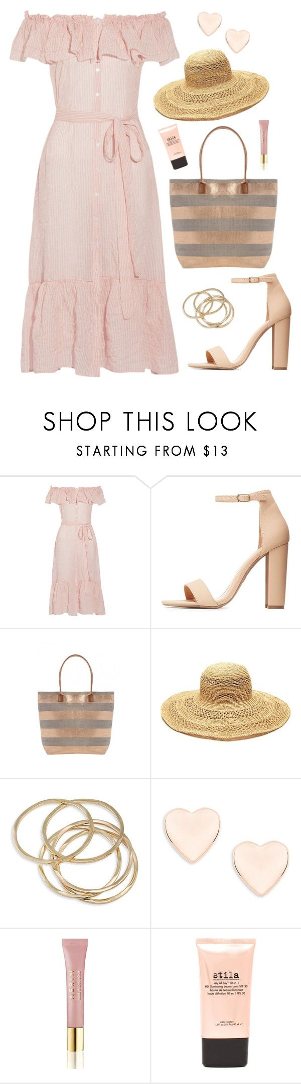 """Suggested #3"" by vale14m on Polyvore featuring Lisa Marie Fernandez, Charlotte Russe, Mar y Sol, ABS by Allen Schwartz, Ted Baker, AERIN and Stila"