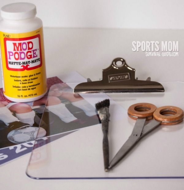 DIY Photo Clipboard: Perfect for a Coach Gift!