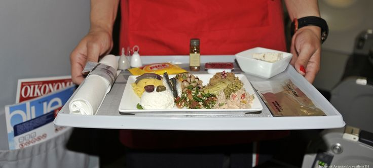 AEGEAN 932 ATHENS - YEREVAN First Flight 19/04/2015 Business Class Meal. Appetizer The Greek Mezze Selection of Fava, Eggplant Salad,Tirokafteri, Tuna Salad, Black Eyed Beans and Artichoke Hearts, Tabouleh and Marinated Anchovies.
