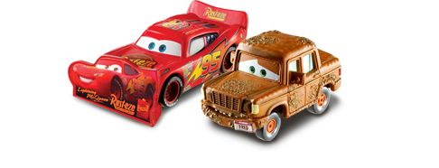 Lightning McQueen with Sign & Fred