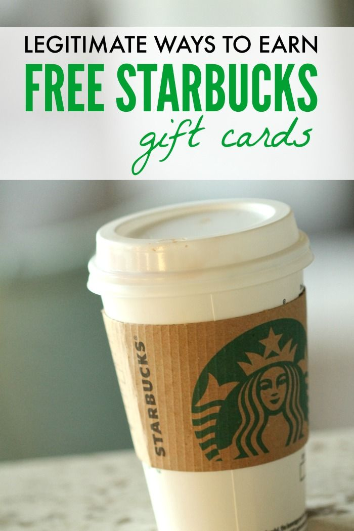 How to Earn FREE Starbucks Gift Cards! Love this way of saving money!