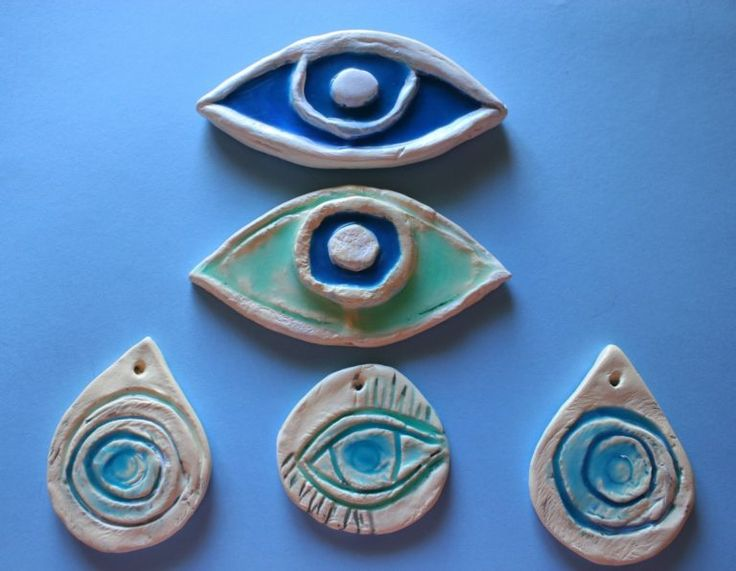 Latest trend in Clay Art - The Eye - Mary's Creative World - Blog & Shop by Maria Doudouli