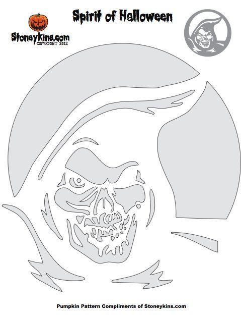 Pin for Later: 20 Free Halloween Printables to Get You in the Spooky Spirit Grim Reaper Pumpkin Stencil Give your home an extra boost of scary with this Grim Reaper stencil.