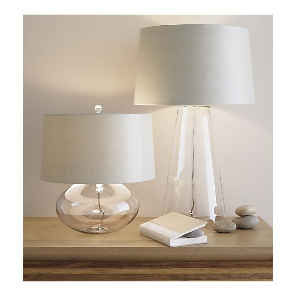 Best Light Fixture Ideas Images On Pinterest Clear Glass - Clear glass table lamps for bedroom