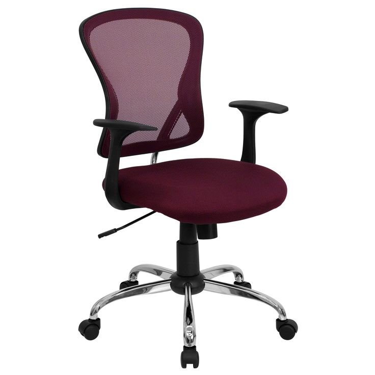 The U201cFlareu201d These Cool Desk Chairs (in Burgundy) Sport A Contemporary Open