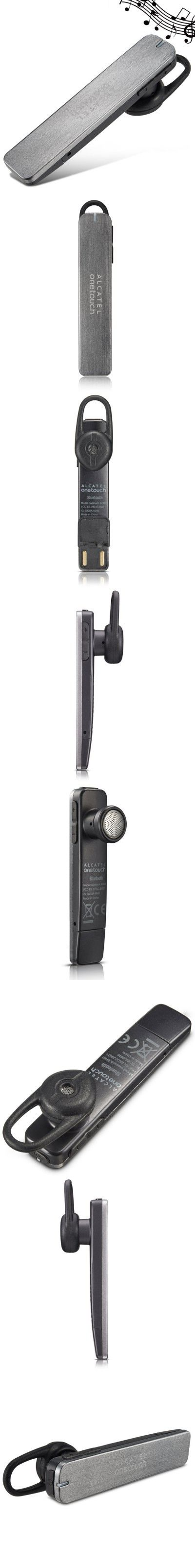 iPhone Headsets | ALCATEL Onetouch BH60 Bluetooth Headset Built-in Mic USB Interface In-ear Earphone $17.13